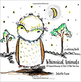 Amazon.com: Whimsical Animals Coloring Book: 34 Original Drawings ...