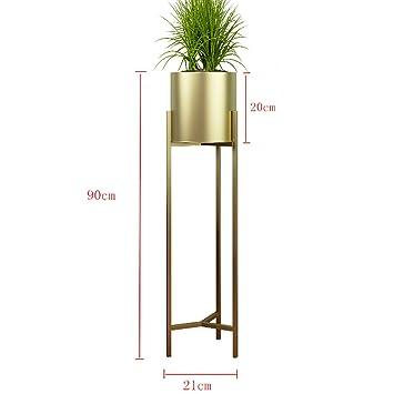 LWJJHJ Blumenständer Gold Metall Eisen Blumen Halter Stand Dekoration  Blumen Pflanzer Töpfe Indoor Modern Garten Air