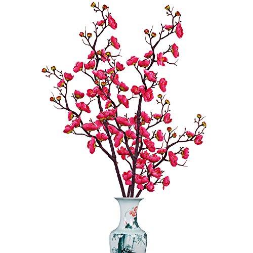 Sunm boutique 2 Pack Plum Blossom Artificial Flowers Simulation Flower Table Decoration Accessories Party Beach Theme Decorations -