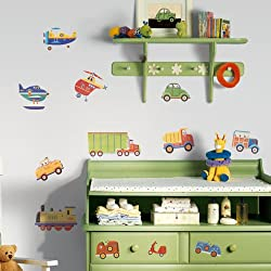RoomMates RMK1132SCS Transportation Peel & Stick Wall Decals