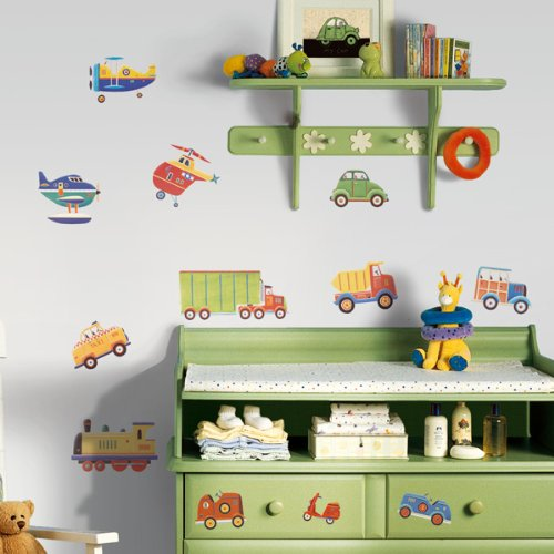 RoomMates RMK1132SCS Transportation Peel & Stick Wall Decals (Wall Border Children)