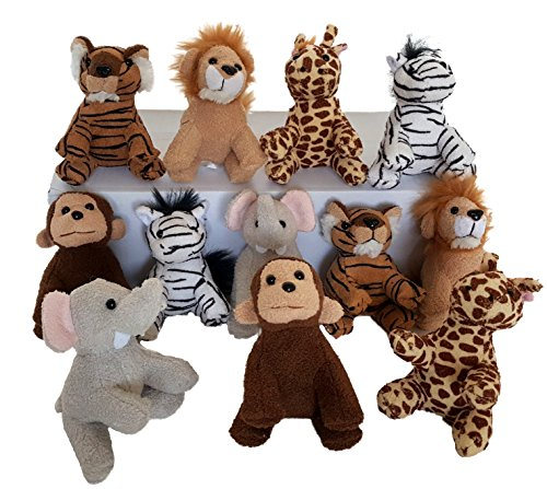 Dondor Suede Zoo Animals, 12 Piece Party Pack, By (Suede Zoo Animals) ()