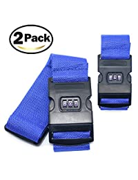 2E·You Luggage Straps, Suitcase Belts Travel Bag Accessories with 3 Digit Lock