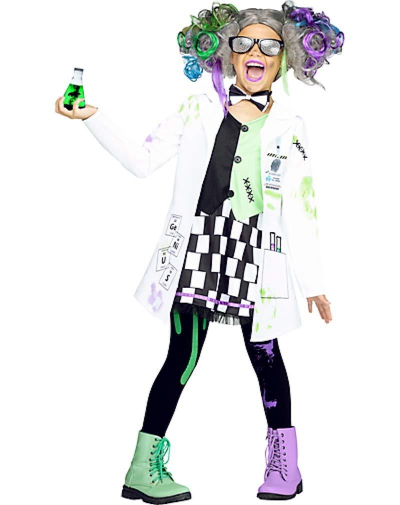 HalloCostume Girls Mad Scientist Costume, Halloween Costumes for Girls