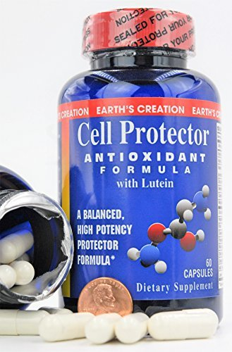 Earth039s Creation Cell Protector Super Antioxidant with Lutein Dietary Supplement 60 Capsules Discount