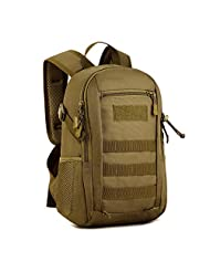 Military Mini MOLLE Backpack Rucksack Gear Tactical Assault Pack Student School Bag 12L for Hunting Camping Trekking Travel