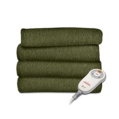 Sunbeam Fleece Heated Throw, Ivy, TSF8US-R622-31A00