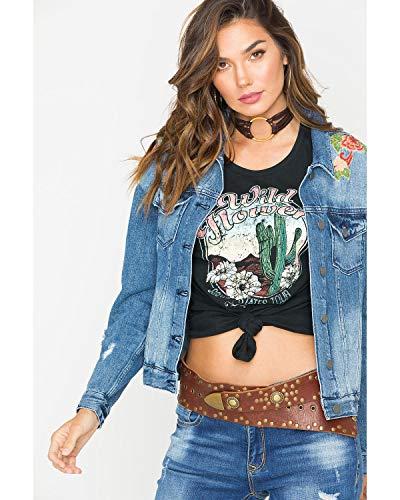 Miss Me Sweet Essence Denim Jacket,Medium ()