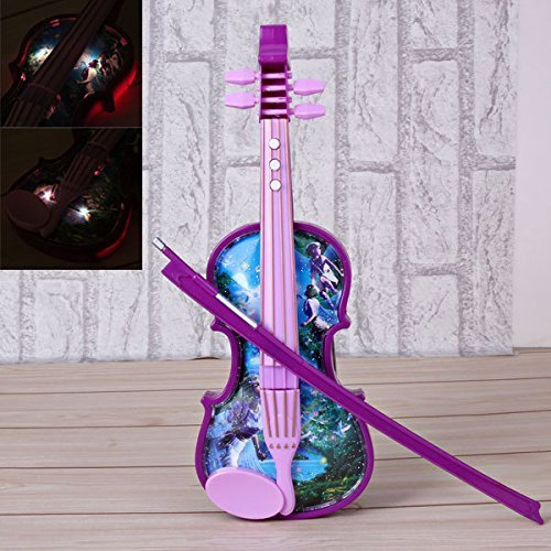 1 Piece of New Hot Power-driven Plastical and Electronic Material Baby Kids Creative Cute Emulation Violin Toy Educational Musical Toys