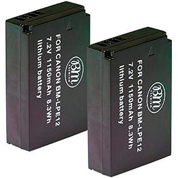Amazon.com : LP-E12 Battery Pack for Canon EOS M, EOS M2 ...