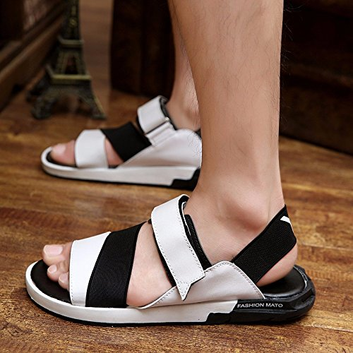 Das neue Frühling Männer Sandalen Sandalen Trend Schuh Trend Freizeit Männer Schuh ,Weiß,US=8,UK=7.5,EU=41 1/3,CN=42