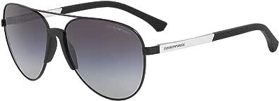امبوريو ارماني نظارة شمسية للرجال ، عدسات ذات لون رمادي