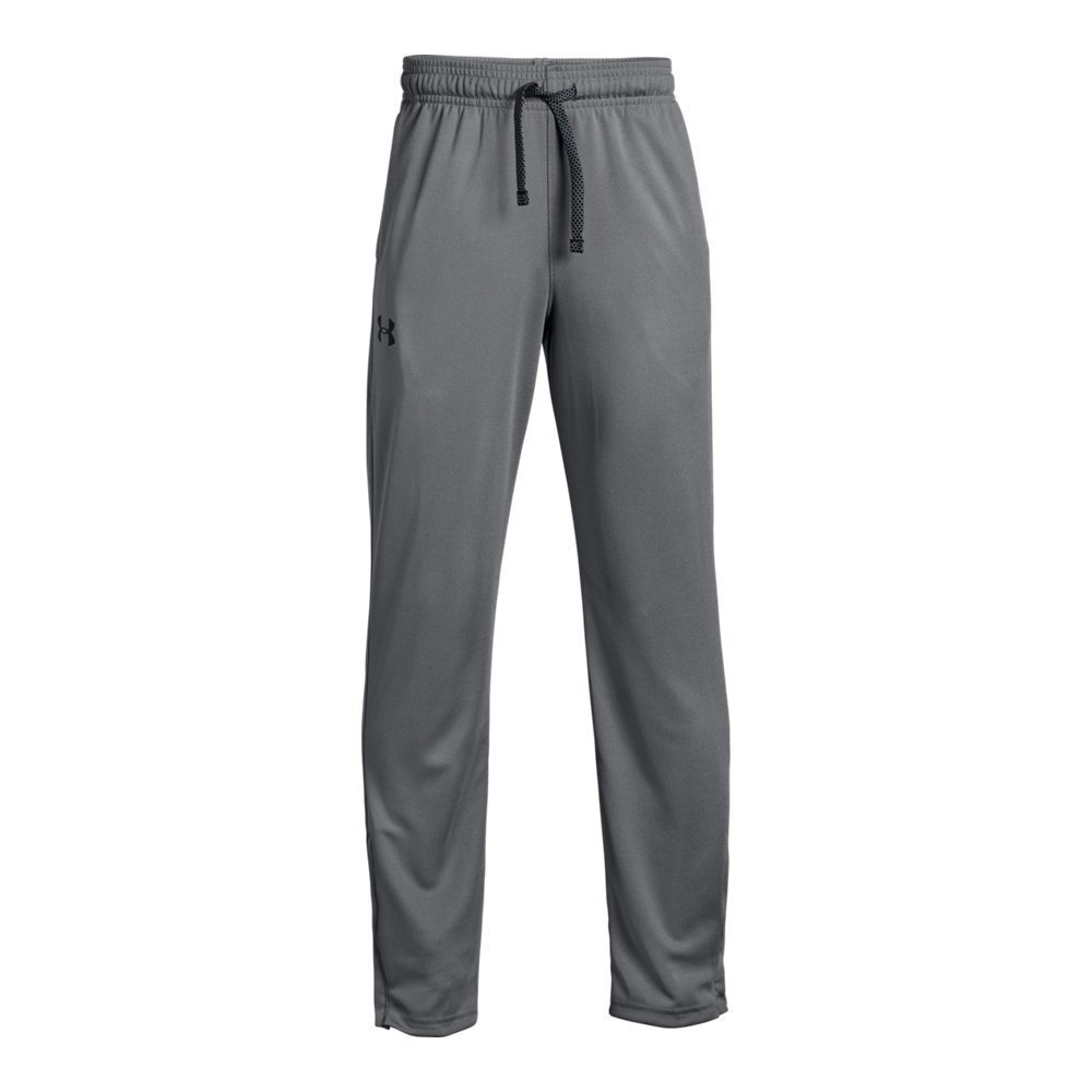 Under Armour Boys' Tech Pants Graphite (041)/Black Youth X-Small by Under Armour