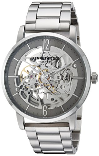 Kenneth Cole New York Men's Automatic Stainless Steel Casual Watch, Color:Silver-Toned (Model: KC50054005)