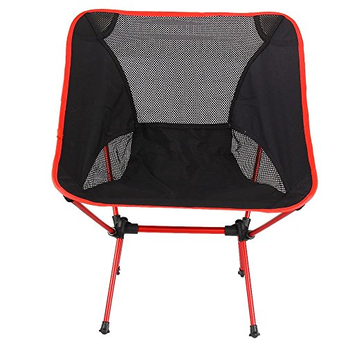 DHL China 9-14 days # Ultra-Light Weight Folding Chair Red , a Seat Anywhere, Outdoors or Indoors for Outdoor Camping Leisure Picnic Beach Chair Other Fishing (Hickory Easels)