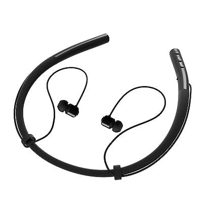 DolTech [actualizado] Auriculares Bluetooth inalámbricos con Banda para el Cuello, retráctiles, deportivos