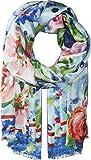 Echo Design Women's Springtime Floral Oblong Coastal Blue One Size