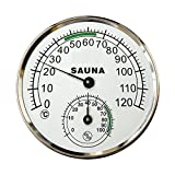 5-inch Dial Thermometer Hygrometer Metal Plastic Housing Sauna Room Hygro-thermometer