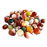 Decorative River Rock Stones WINOMO Natural River Pebbles Colorful 0.5-1cm 500g