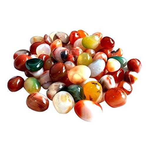 Decorative River Rock Stones WINOMO Natural River Pebbles Colorful 0.5-1cm 500g by WINOMO