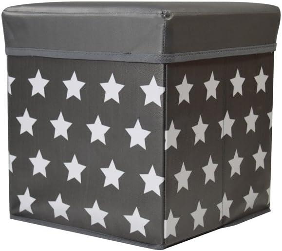 Jocca Caja de Almacenaje + Banqueta, PVC, Negro, 30x30x30 cm ...