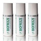 Biofreeze Pain Relief Gel for Arthritis, 3 oz. Roll-on Topical Analgesic, Fast Acting and Long Lasting Cooling Pain Reliever Cream for Muscle Pain, Joint Pain, Back Pain,Colorless Formula