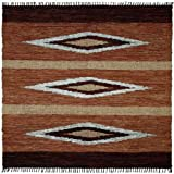 Cheap Matador Diamonds Leather Chindi Rug, 30-Inch by 50-Inch, Brown