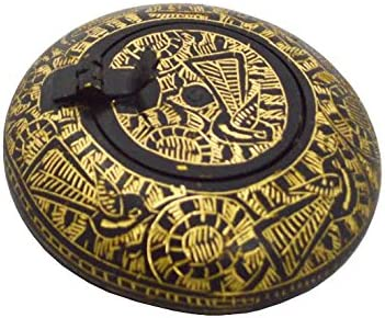 Zap Impex® hecha a mano Latón Cenicero con tapa negra Color meen ...