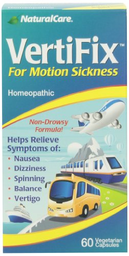 Naturalcare Vertifix for Motion Sickness, 60 Vegetarian Capsules by NaturalCare