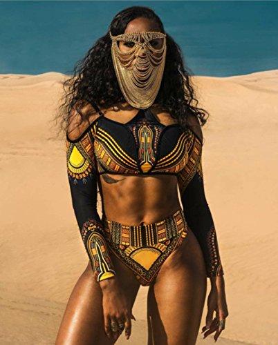 S costume TIANLU codice intero nero costume da bikini Beachwear dimagrante da set split strap grande sexy donna bagno qHIwTHU