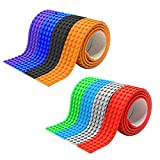Building Blocks Tape,iDeep 8 Rolls 4 Studs Silicone Blocks Toy Block Tape 3X0.1ft for Each Roll Compatible with Lego Block Construction Self-Adhesive Reusable Silicone Strips