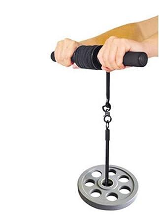 Rodillo ejercicio pesas fuerza antebrazo muñeca barra brazo: Amazon.es: Deportes y aire libre