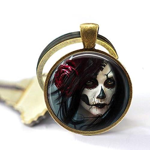 Amazon.com: Llavero gótico de cristal con diseño de gota ...