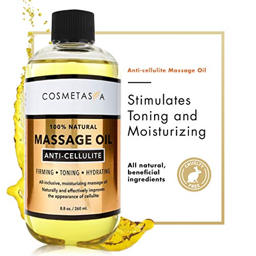 Anti Cellulite Massage Oil - 100% Natural Cellulite Treatment, Deeply Penetrates Skin to Break Down Fat Tissue- Firms, Tones, Tightens & Moisturizes Skin 8.8 By Cosmetasa 6