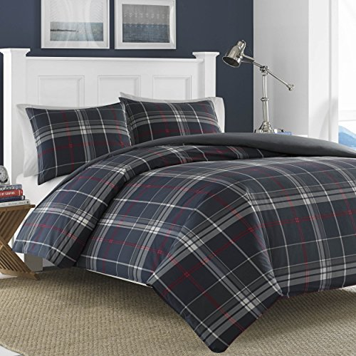 Nautica Booker Cotton Comforter Set, King, Blue ()
