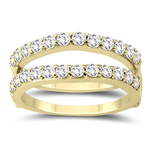 1 Carat TW Diamond Insert Ring in 14K Yellow Gold by Szul