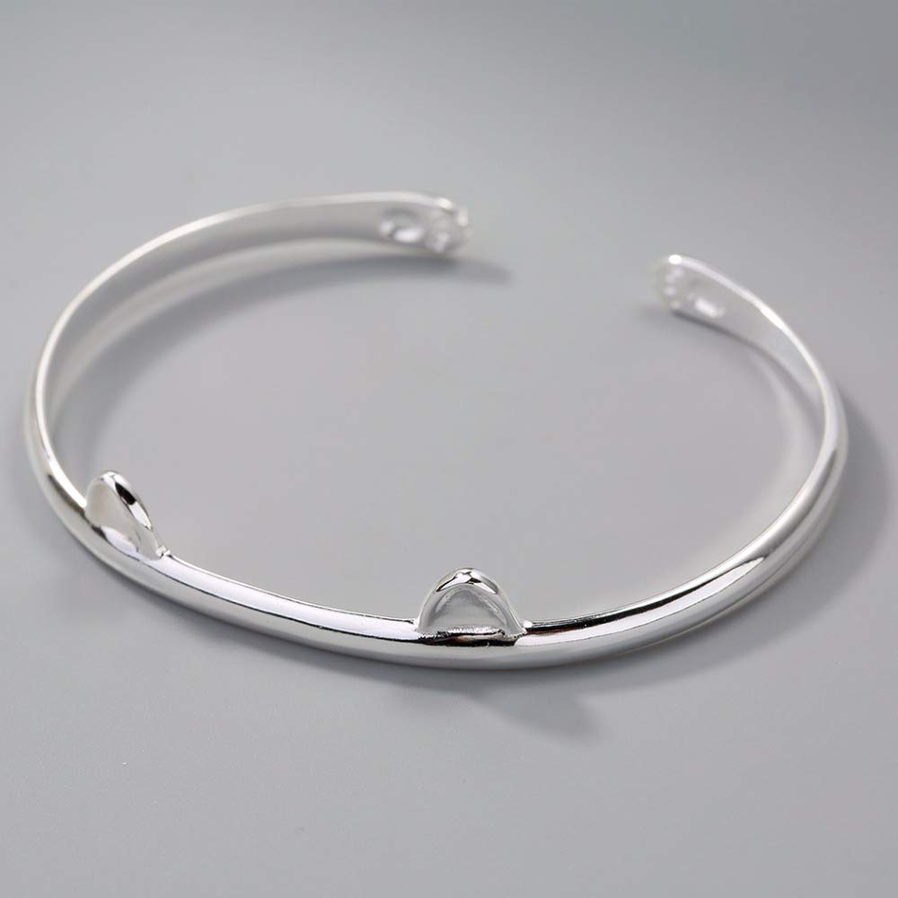 oreilles de chat cadeau d/'anniversaire pour filles//femmes Bracelet de manchette en argent sterling 925