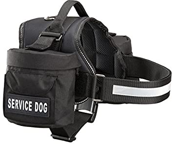 Amazon.com : Service Dog Harness with Removable Saddle Bag Dogs ...