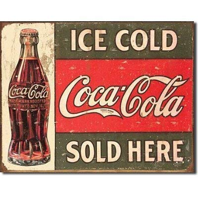 APCA Ice Cold Coca Cola Coke Sold Here 1916 Distressed Retro Tin Sign TIN Sign 7.8X11.8 INCH