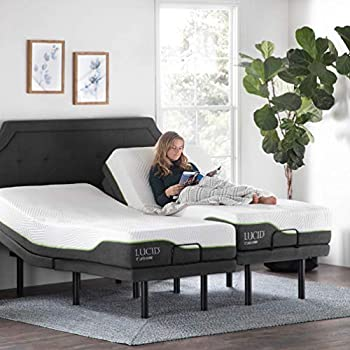 Amazon Com Lucid L300 Adjustable Bed Base With Lucid 12