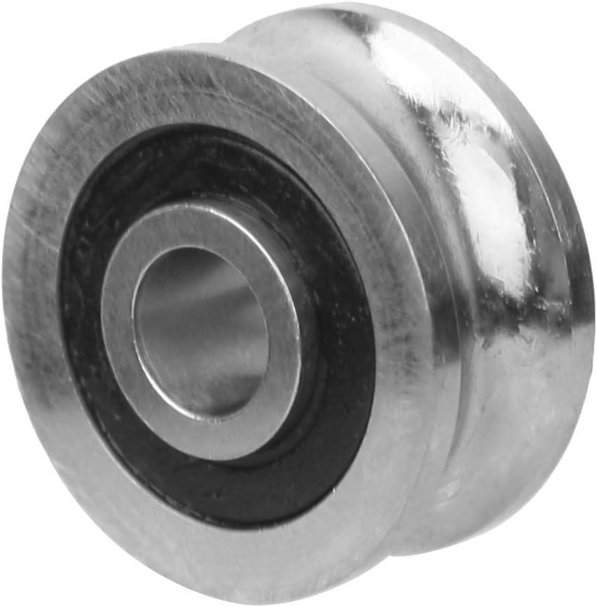 Rodamientos de acero inoxidable Rodamientos U Groove Bearing SG10 4 x 13 x 6 mm para m/áquina de bordar