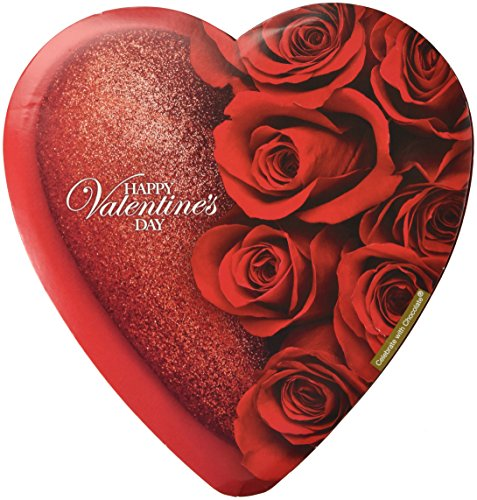 Elmer Celebrate with Chocolate Assorted Chocolates, 6.8 Ounce Valentine Heart Box (Rose Design Varies)
