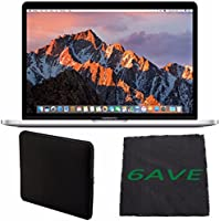6Ave Apple 13.3 MacBook Pro (Silver) #MLUQ2LL/A + Padded Case For Macbook + Fibercloth Bundle