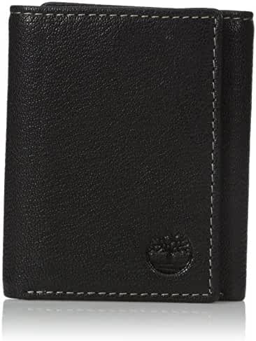 Timberland Men's Genuine Leather RFID Blocking Trifold Security Wallet