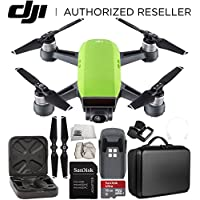 DJI Spark Portable Mini Drone Quadcopter Starter Portable Bag Shoulder Travel Case Bundle (Meadow Green)
