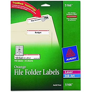avery 5166 template - avery red file folder labels for laser and