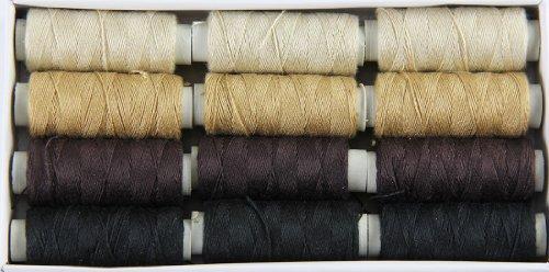Ari Threads (a Set of 12 spools), Color# - Spools Thread 12 Polyester