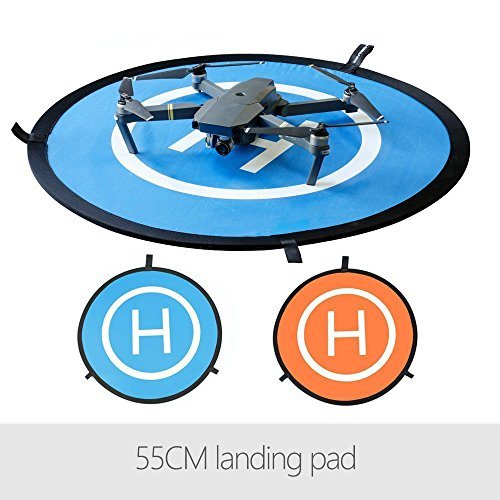 Yifant Drone Landing Pad 55cm/21 inches Quadcopter Portable Fast-fold Landing Gear Surface With Waterproof Nylon Material For DJI Mavic Pro/Mavic Air/Spark Remote Control Helicopters Accessories ()