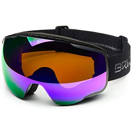 59d2516f61b Amazon.com   Briko Kaba Goggle Mat Black Purple Mirror Cat3   Sports ...