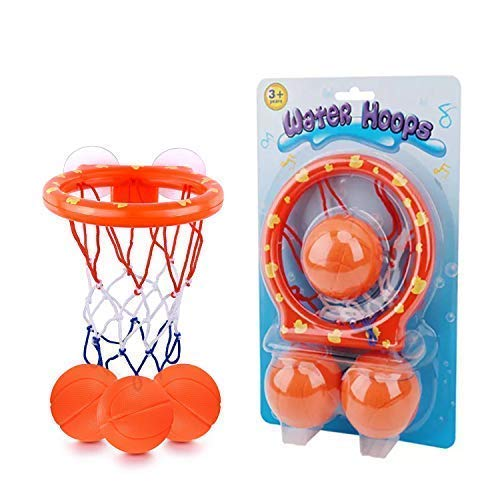 Ellien Bath Basketball Hoop Toys for Kids & Toddler with 3 Balls Incuded, Bathtub Shooting Game for Little Boys & Girls …